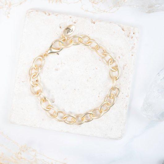 Chain Bracelet - Matte Gold