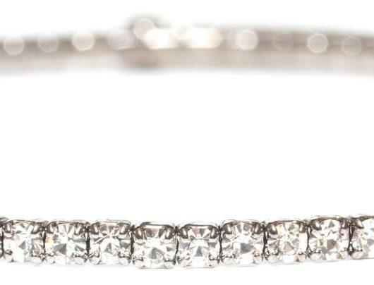 Gunmetal Single Wrap Bracelet - Diamond