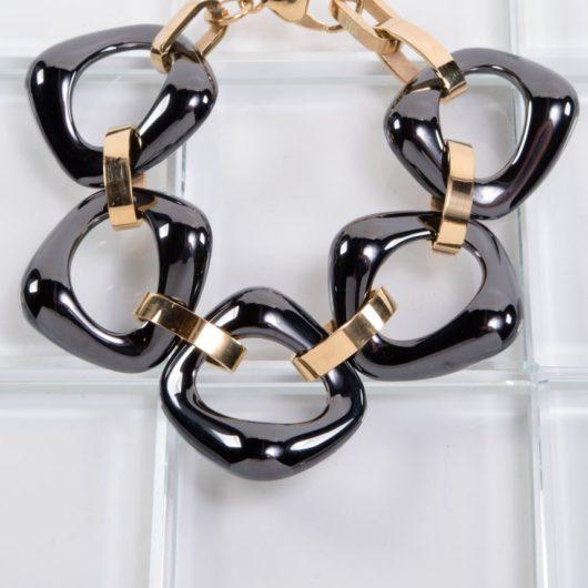 Ceramiqué Black/Gold Bold Bracelet