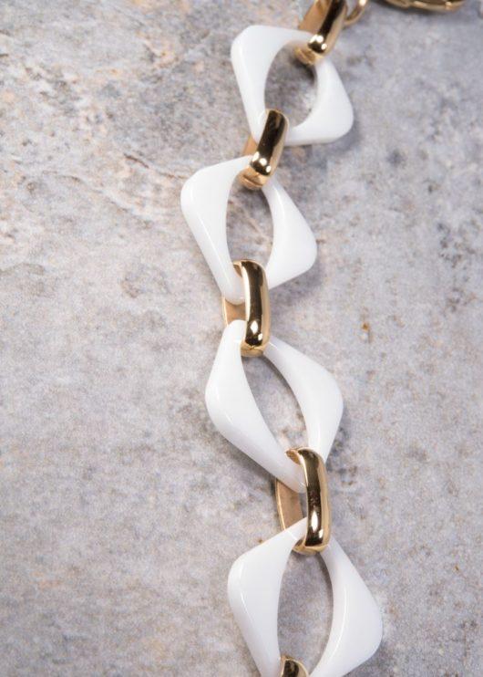 Ceramiqué White/Gold Mezzo Bracelet