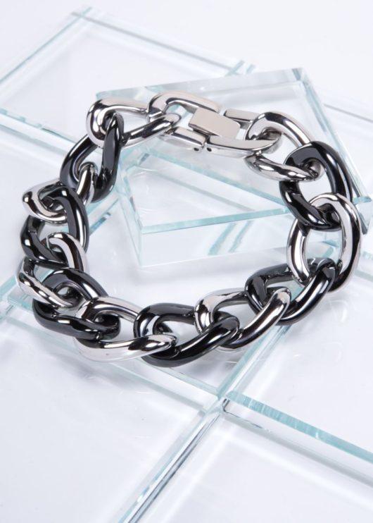Ceramiqué Black/Stainless Duet Bracelet