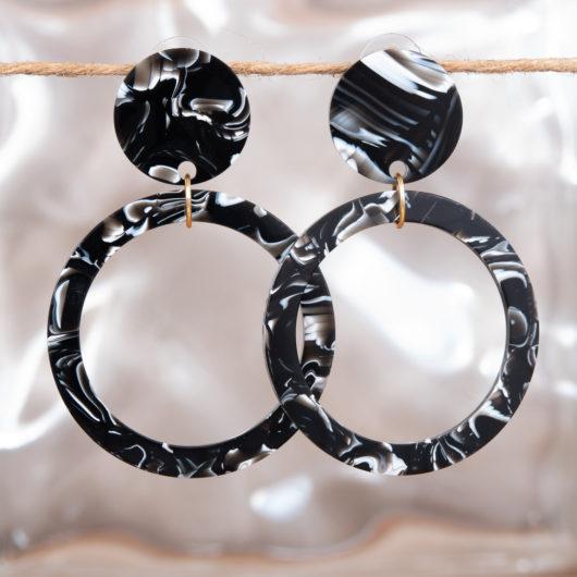 Open Hoop Earrings - Lime Brights Multi