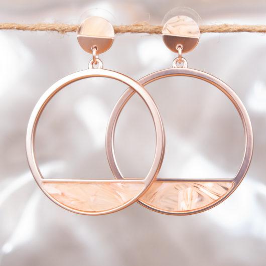 Open Slice Earrrings - Silver