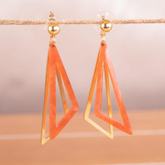 Triangle Earrings - Purple
