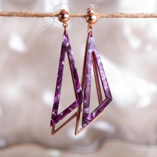 Triangle Earrings - Sky