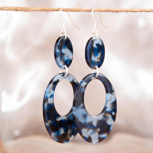 Open Oval Drop Earrings - Blush