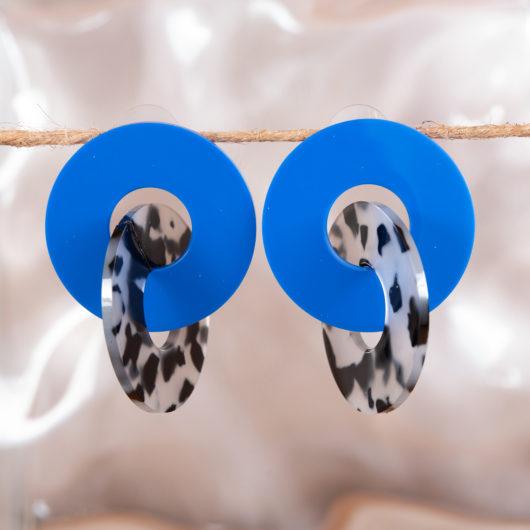 Triple Drop Earrings - Teal Multi