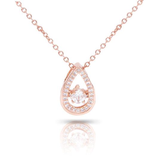 Teardrop Cluster Necklace - Rosegold