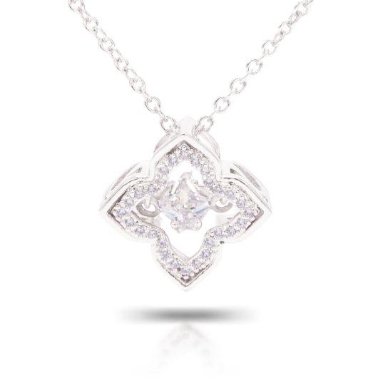 Quatrefoil Necklace - Silver