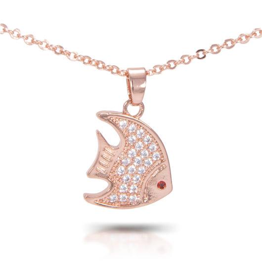 Angelfish Necklace - Rosegold