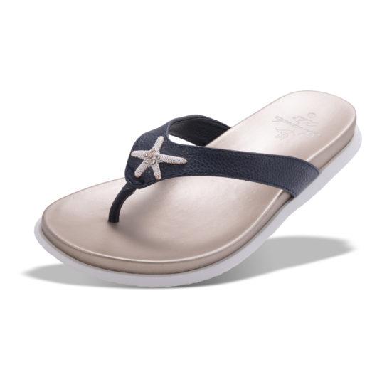 Barbados Enameled Starfish Sandal - Navy Size 10