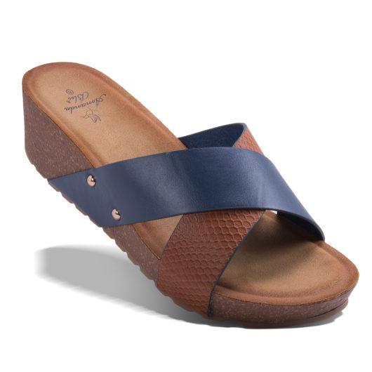 Bianca Slide - Navy Size 10
