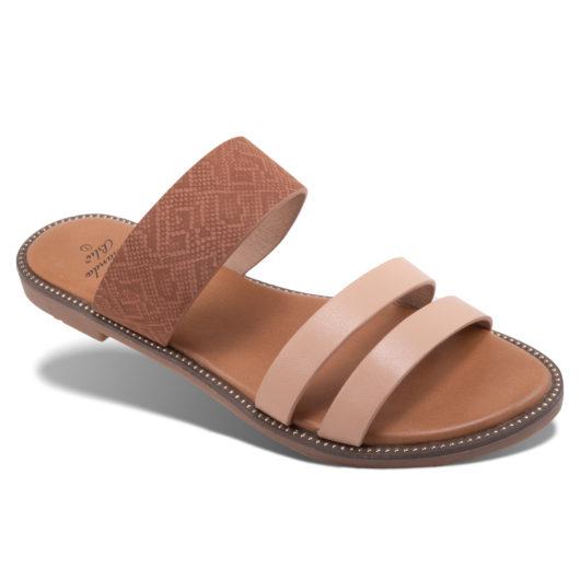 Ella Slide - Brown Size 11