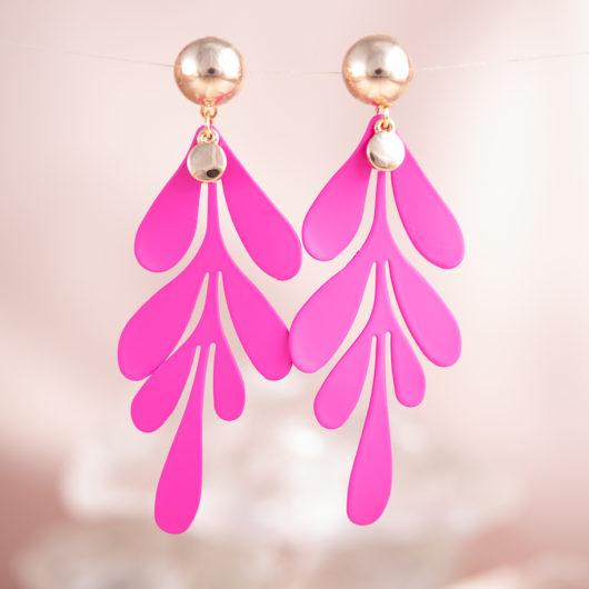 Splash Earrings - Fuchsia