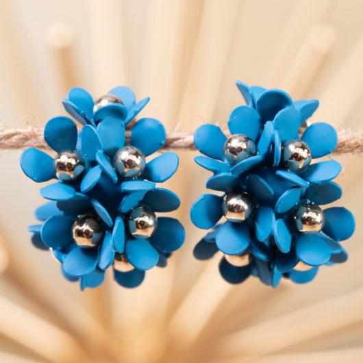 Cluster Flower Ear Hugger Earrings - Mykonos