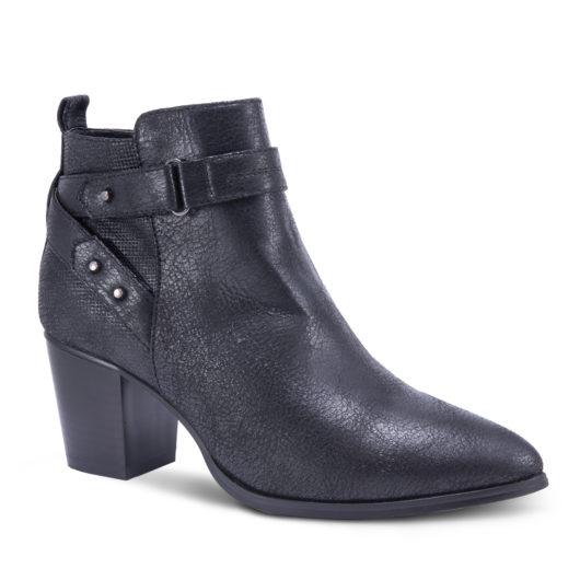 Amanda Blu Oak Studded Strap Bootie - Black - Size 11