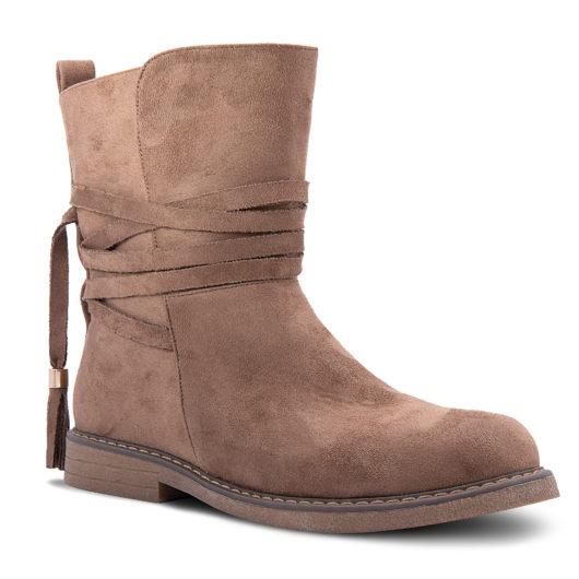 Amanda Blu Kingston Strappy Boot - Size 11 - Brown