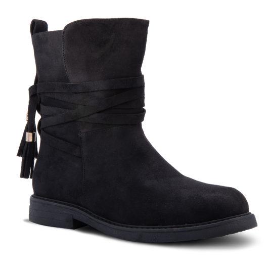 Amanda Blu Kingston Strappy Boot - Size 11 - Black