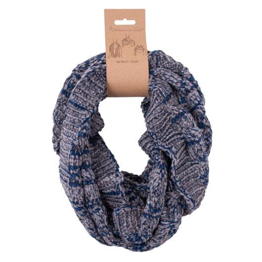 Polar Chenille Infinity Scarf Blue