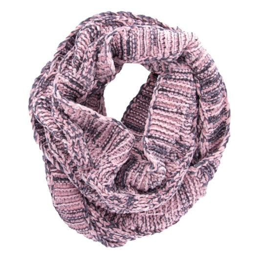 Polar Chenille Infinity Scarf Blush