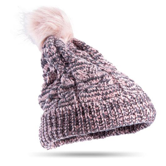 Polar Chenille Pom Hat Blush