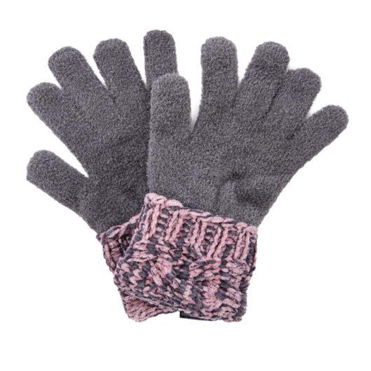 Polar Chenille Magic Gloves Blush