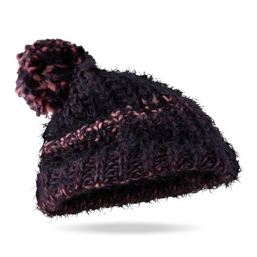 Alpine Ombre Pom Hat Elderberry