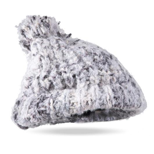 Flurry Pom Hat Gray