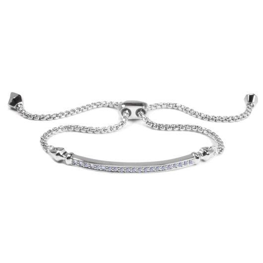 Bar Adjustable Bracelet - Silver
