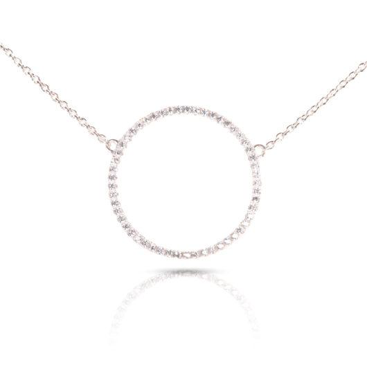Circle Hoop Necklace - Silver