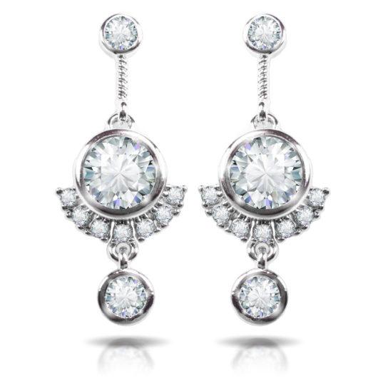 Triple Drop Earrings - Silver