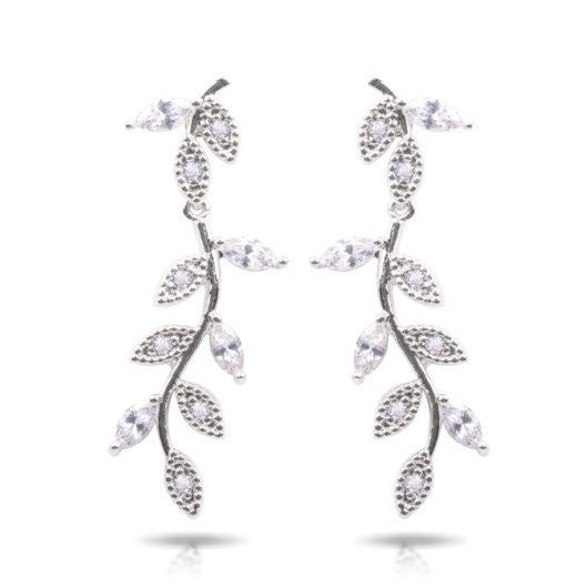 Vine Drop Earrings - Silver