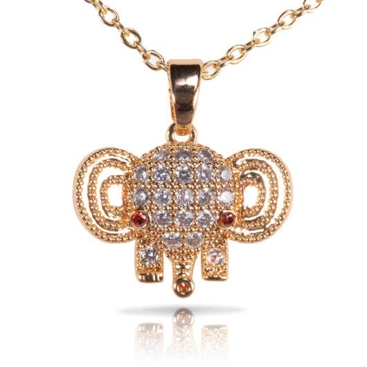 Elephant Necklace - Gold