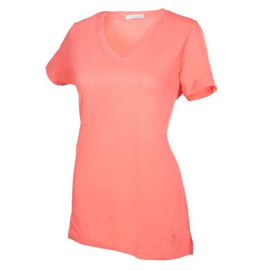 V-Neck T-Shirt - Persimmon