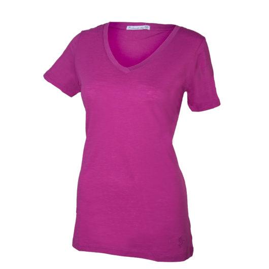 V-Neck T-Shirt - Rose Violet