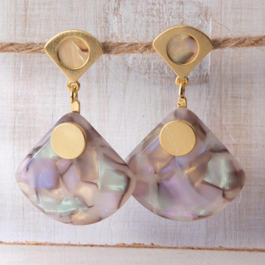 Fan Drop Earrings - Blush Multi