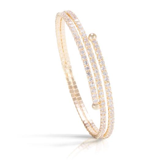 Double Spiral Bracelet - Gold