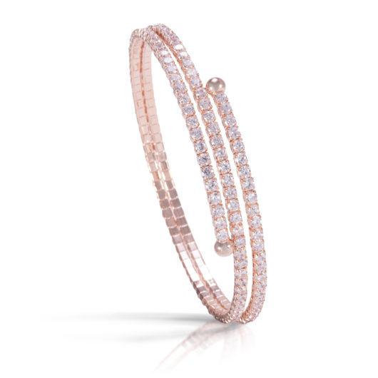 Double Spiral Bracelet - Rosegold