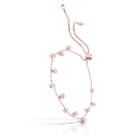 Droplet Pull-Cord Bracelet - Rosegold