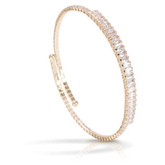 Baguette Single Spiral Bracelet - Gold
