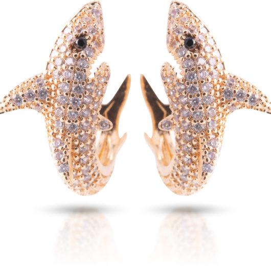 Shark Earrings - Gold