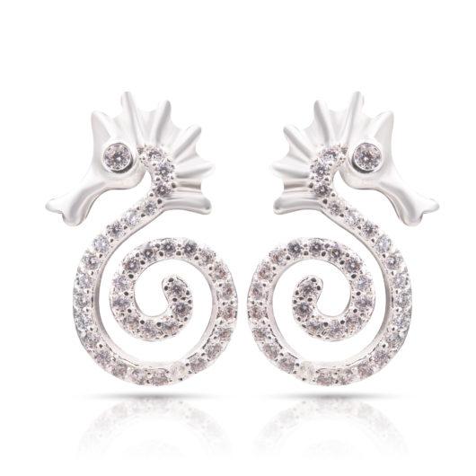 Sea Horse Earrings - Silver