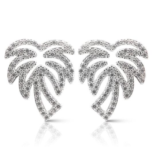 Palm Tree Earrings - Silver
