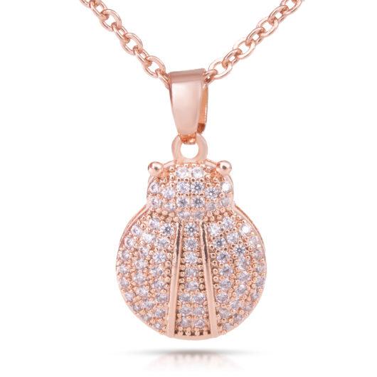 Lady Bug Necklace - Rosegold