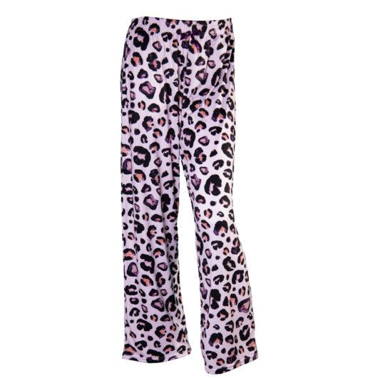 Pajama Pants Size XLarge - Mauve Leopard
