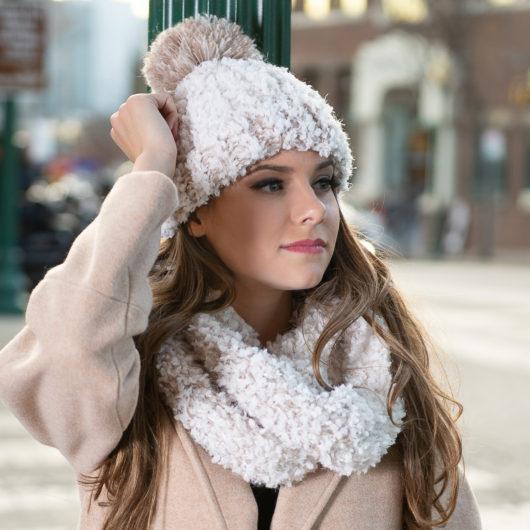 Whiteout Pom Hat - Beige