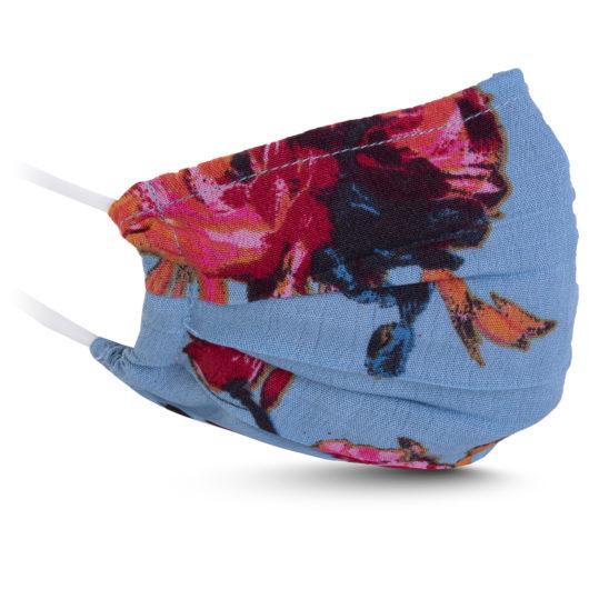 Fabric Mask - Blue/Orange Floral
