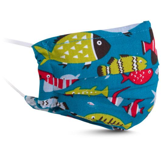 Fabric Mask - Teal Fish