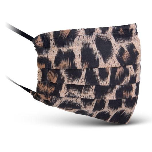 Fabric Mask - Brown/Tan Leopard